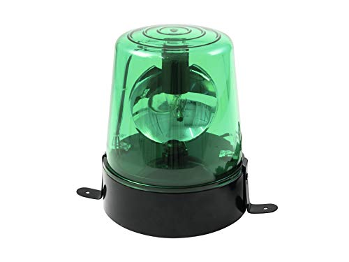 EUROLITE Polizeilicht DE-1 grün | Klassische Rundumleuchte inklusive 230 Volt/18W-Lampe