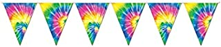 Tie-Dyed Pennant Banner Party Accessory (1 count) (1/Pkg)