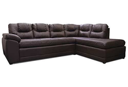 CONFORTO Sala Esquinera de Piel Genuina sofá y cheise Long Verona