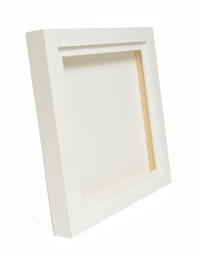White 3D Deep Box Picture Frame Display Memory Box For Medals Memorabilia Flowers etc with a choice of mount colours (8x8', White)