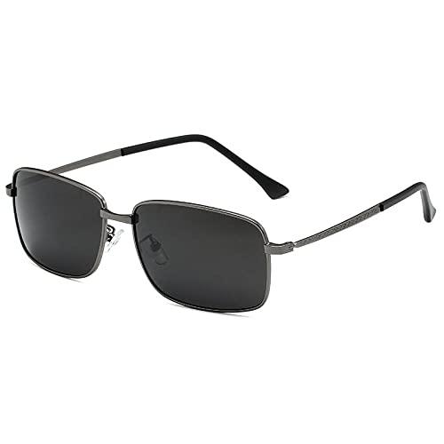 XDOUBAO Gafas de sol Caja de gafas de sol polarizada Caja de conducción Lente polarizada Gafas deportivas al aire libre-Película gris marco de armas