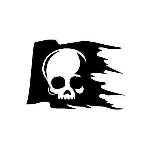 ZQZL Etiqueta engomada Creativa única del Coche del Logotipo del cráneo, Etiqueta de Vinilo Reflectante de Cuerpo Cubierto 15,2 * 10,6 CM