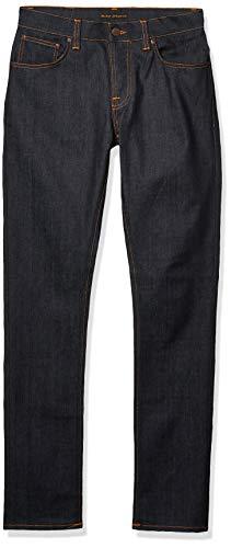 Nudie Jeans Unisex Jeans Grim Tim, Blau (Dry Open Navy), 31 (31W x 32L)