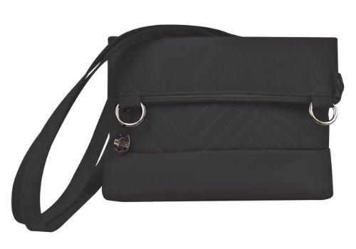 Travelon Luggage Quilted Fold-Over Shoulder Bag, Black, One Siz