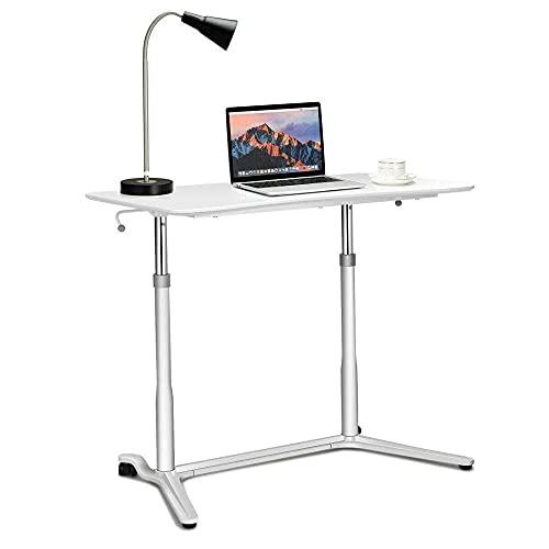 ZHANGYY Escritorio para computadora portátil móvil Mesa Auxiliar móvil Mesa para computadora portátil portátil con Ruedas para Oficina en casa (Color: Blanco, Tamaño: Talla única)