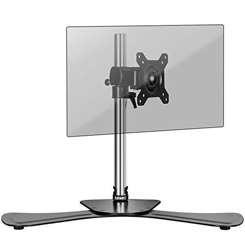 """Duronic DM751 Soporte para Monitor de 15"""" a 24"""" Pulgadas con Pie de Base - PC TV LED LCD – 8Kg Máx Cada una - Soportes y Brazos de Escritorio para Ordenador, Oficina, Estudio"""