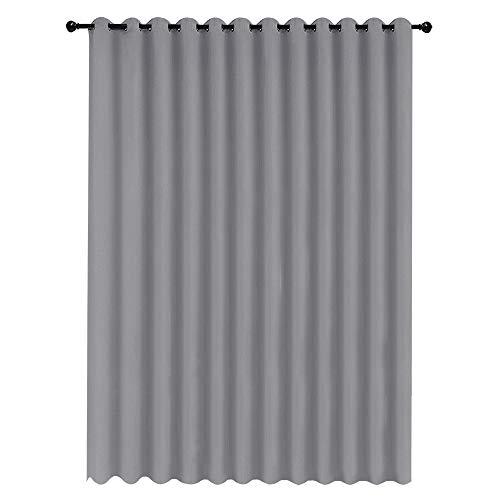 Aufun Vorhänge Blickdicht Grau 300 x 245 cm (BxH) Verdunkelungsvorhang ösen Thermovorhang Gardinen Vorhangschal Vorhang mit Ösen für Wohnzimmer Schlafzimmer Büro