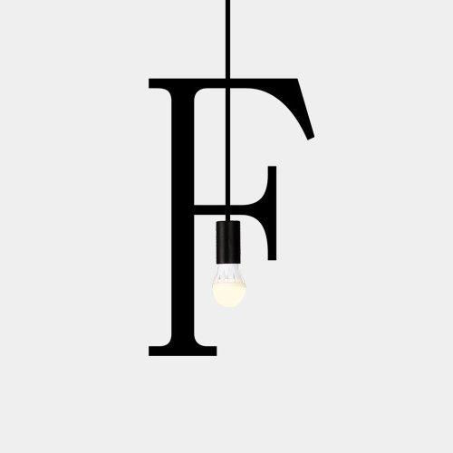Neilyn DIY Alfabeto Inglés Hierro Lámpara de Techo Colgante de Luz Ropa Creativa Simple Shop Cafe Bar Inicio Cálido Romántico Lámpara Colgante Araña (Color : F)