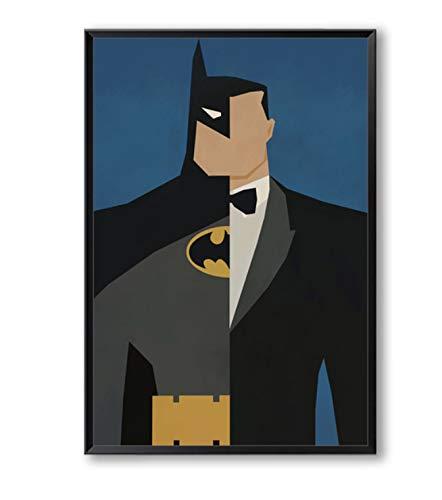 Élégant Poésie Super-Héros Avenger Batman Iron Man Toile Peinture Impression Affiche Photo Peinture Murale Décoratio 30X45 Cm Pas De Cadre A2
