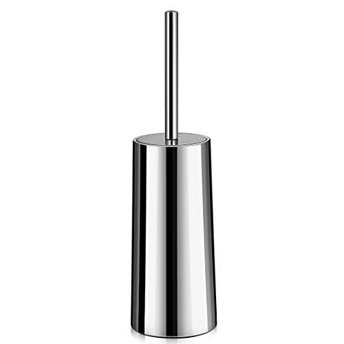 Homemaxs Toilet Brush And Holder 304 Stainless Steel Toilet Brush With Long Handle Hideaway Toilet Bowl Brush For Bathroommirror Surface Holder