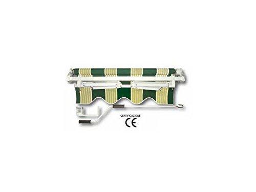 Rolgordijn Sole oprolbaar met Quadra. Kan zowel aan het plafond als aan de muur worden bevestigd. Torsiestang Mm 35 x 35 x 1,2 aluminium roller Ø Mm 60X1.2 houder van aluminium (Mm 47X28X1,20 + Mm 37X20X1,20). Arganello 1/11, stofgewicht 280 gr./M