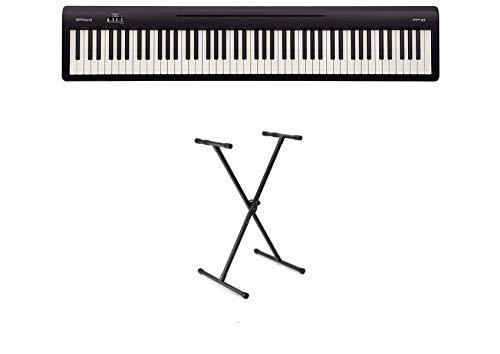Roland FP-10 Black Digital Piano & X-Stand Bundle (FP10)