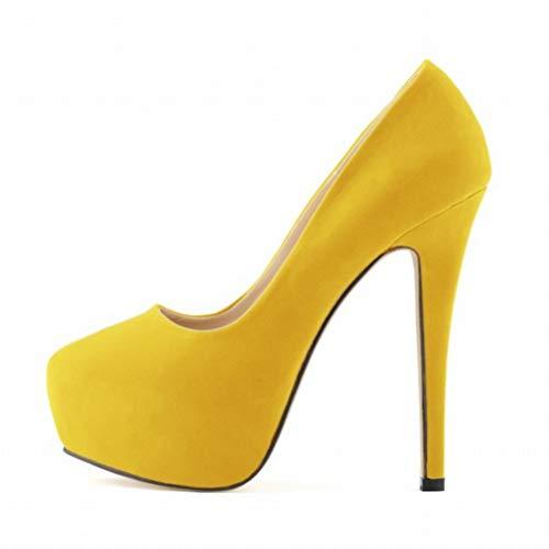 Womens High Heels Party Court Schuhe verborgenen Pumps Plattform Spitze Zehenschuhe
