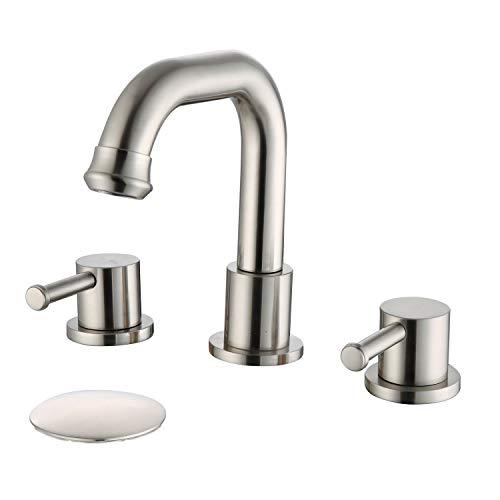 Beelee BL3030N - Grifo de lavabo (tres agujeros,...