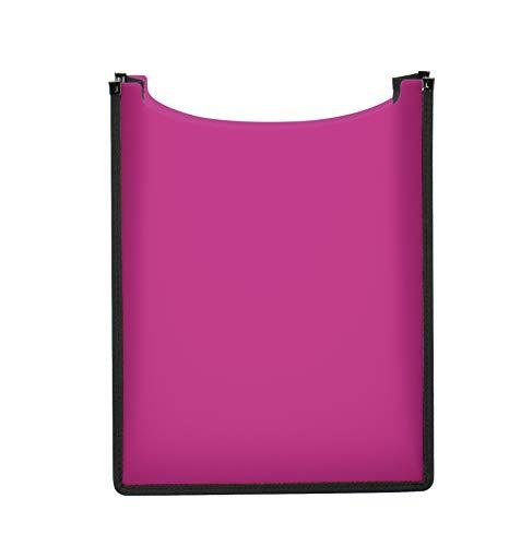 HERMA 19482 Heftbox Flexi DIN A4 (35 x 26 x 7 cm, aus transluzenter PP-Folie, oben offen) Kinder Heftebox für Hefte und Schnellhefter im Schulranzen und Rucksack, pink