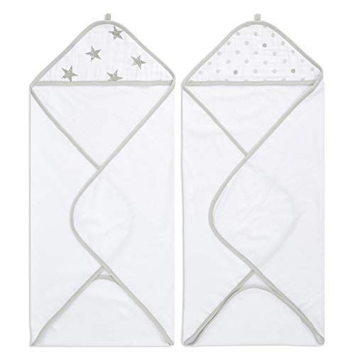 Pack de 2 Capes de Bain à Capuche 100% Coton aden + anais™ essentials Dusty (76x76cm)