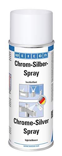 WEICON Chrom-Silber-Spray / hochbrillante Oberflächenbeschichtung / 400 ml