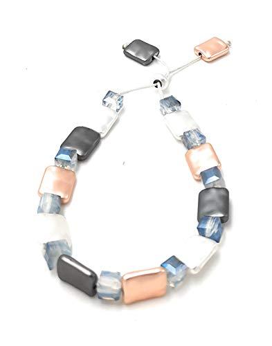 Mijn glitterwereld platte glazen kralen armband armsieraad