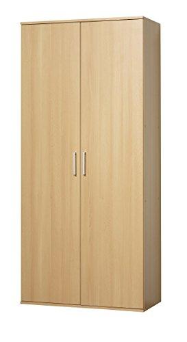 WILMES Schuhschrank, Holzwerkstoff, Buche Dekor, 39x80x178 cm