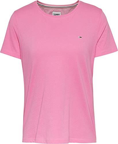 Tommy Jeans Tjw Soft Jersey tee Camiseta, Rosa (Pink Daisy), L para Mujer