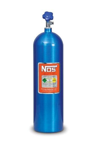 NOS 14750NOS Electric Blue Aluminum 15-pound Nitrous Bottle with Hi-Flow Valve