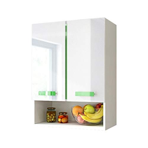 Schränke Wandschrank Schlafzimmer Wand Aufbewahrungsbox Balkon Wohnzimmer Aufbewahrungsschrank Küche Massivholz Geschirr Schrank (Color : Green, Size : 60 * 30 * 80cm)