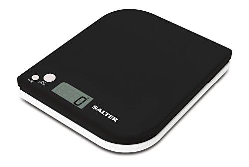 Balance de cuisine numérique Salter Leaf - Pesage électronique, Balance de cuisson au design moderne, écran LCD, ajouter et peser, Stockage compact, Facile à nettoyer, Garantie de 15 ans