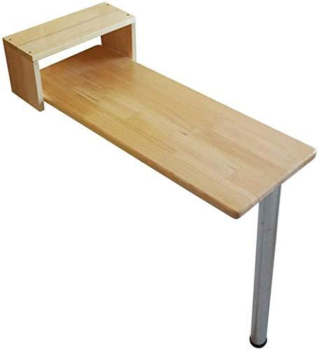 Lazy Table - Mesa plegable de madera para pared, mesa de cocina y comedor, mesa de bar, mesa para niños, mesa de ordenador, 9 ahorra espacio, 105 x 20 cm
