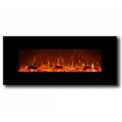 "Regal Flame Ashford Black 50"" Log Ventless Heater Electric Wall Mounted Fireplace Better Than Wood Fireplaces, Gas Logs, Fireplace Inserts, Log Sets, Gas Fireplaces, Space Heaters, Propane"
