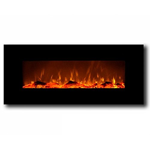 Regal Flame Ashford Black 50' Log Ventless Heater Electric Wall...