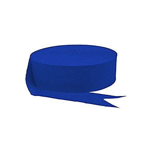 amscan Party Crepe Streamer, 500', Royal Blue