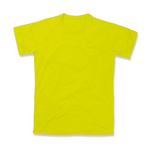 adidas Active 140 Raglan/ST8410 Camiseta, Amarillo cibernético, M para Hombre