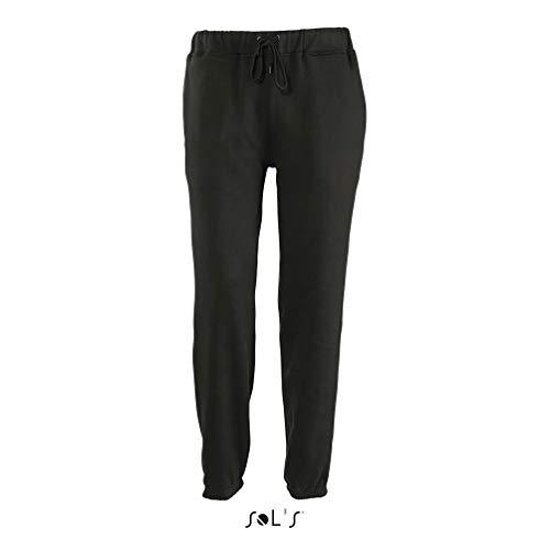 Sol'S Jogger - Jogging Homme - Confortable en Molleton avec Bas élastiqué - Style Sportswear Fashion - Noir - 3XL