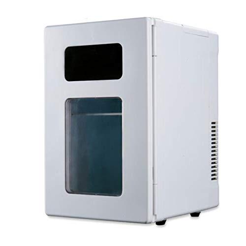 LYN 10L Mini autokoelkast thermo-elektrische koelbox met wielen, mobiliteit mini-autokoelkast voor op reis, camping, picknick, 12 V DC / 220 V AC