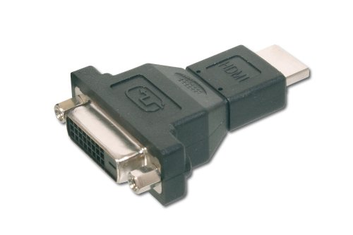 ASSMANN HDMI Grafik Adapter, HDMI Typ A zu DVI-I (24+5), Full HD 60Hz, 1920 x 1200 Pixel, Schwarz