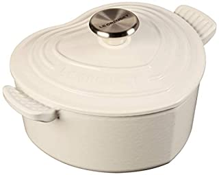 Le Creuset Heart Shaped Dutch Oven With Stainless Steel Knob, 2.25 qt, White (B079TYHJJN) | Amazon price tracker / tracking, Amazon price history charts, Amazon price watches, Amazon price drop alerts