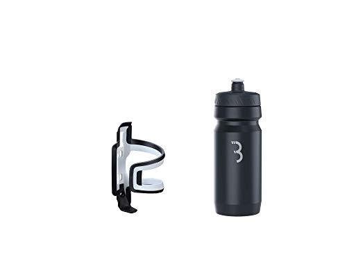 BBB Cycling Flaschenhalter Fahrrad Combo Fueltank Wasserflasche BBC-40C, Schwarz-Weiß/Schwarz, 550 ml