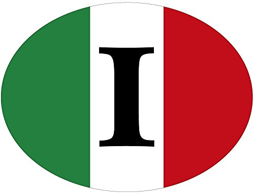 Artimagen Pegatina Bandera Oval I Italia 80x60 mm.
