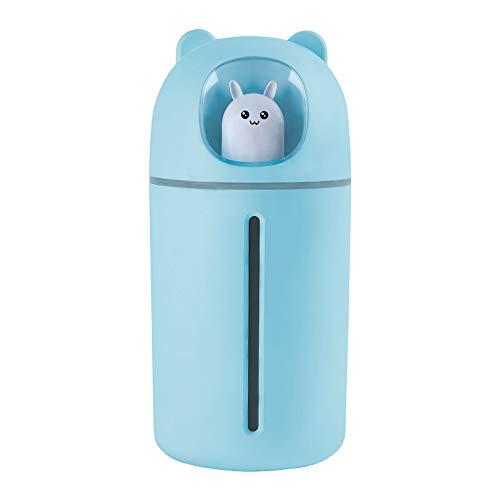 HBRE Nano PulvéRisateur De Brume pour La Peau,USB Humidificateur Nettoyage Pores Soins OpéRation Silencieuse Nano Jet d'eau 350 ML,Humidificateur Facial Vapeur Hydratant Hydratant,Blue