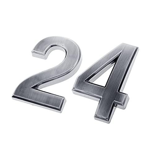 H HILABEE Señal de Número de Puerta de Buzón de 2 Piezas Números de Casa Señal de Dirección para Buzón de Hotel