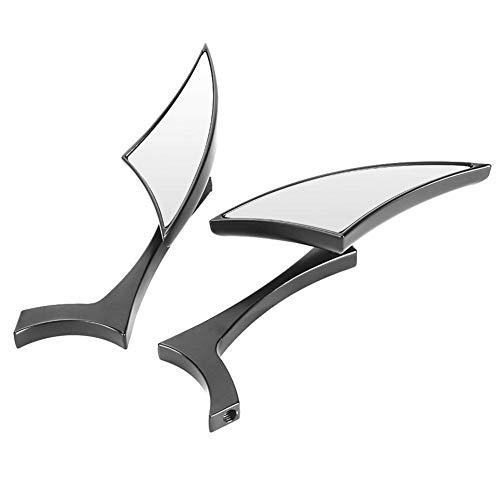 Vikenar 2pcs de la Motocicleta Espejos retrovisores Barra de la manija Vista Lateral Posterior de Cristal de aleación de Aluminio