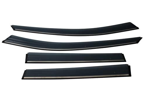 Aliyeyee Deflettore per finestrino Laterale Visiera per Finestra fumé Protezioni per deflettore Antipioggia per Peugeot 2008 2020 2021