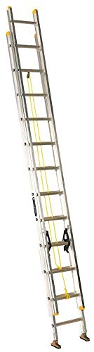 Louisville 24 ft Aluminum Extension Ladder, 250 lb Load Capacity, 39.0 lb Net Weight - AE3224PG