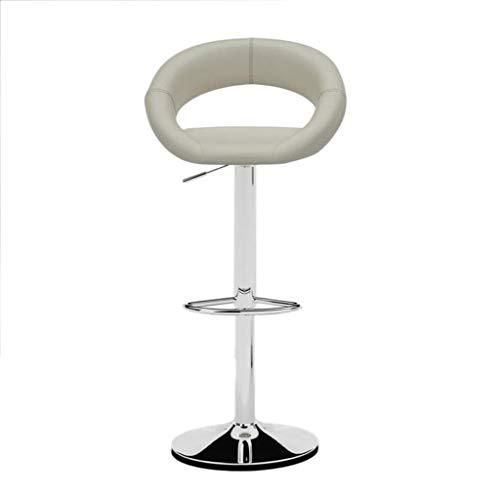 Zfggd Silla de la Barra taburetes de la Barra de Altura Ajustable Tumbona Moderna Cocina de Acero Inoxidable Desayuno taburetes Altos Sillas sillas Blancas