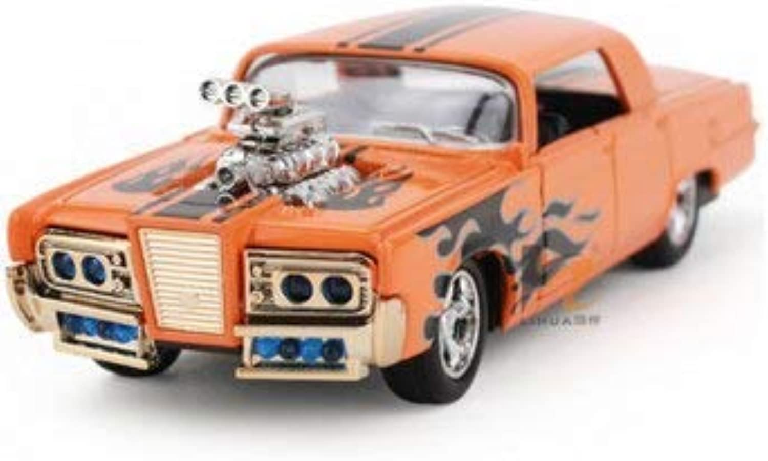 1 43 Sound and Light Alloy Pull Back Hot Top Model car Modified car Collection orange