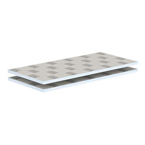 LUX ELEMENTS Bauplatte Fertig zum Verfliesen, 125 x 60 cm, 2 Stück (1,5 qm) LELEE4142, Grau, 30 mm