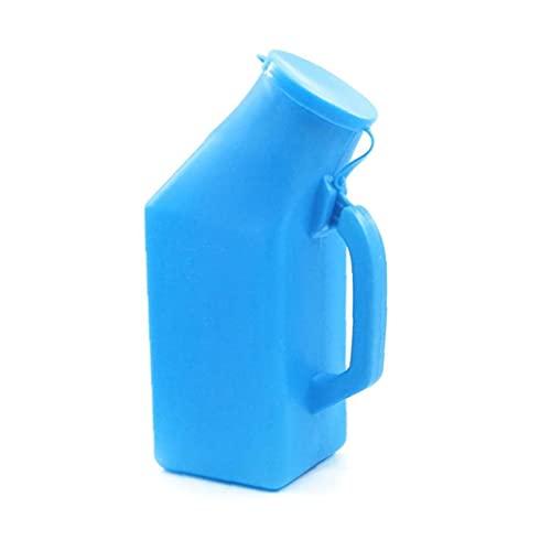 Yililay Botellas de orina de orina portátil Masculina para el Orinal de orina de orina de orina Gruesa con Tapa para Hombres 1l Tecnología Azul sofisticada