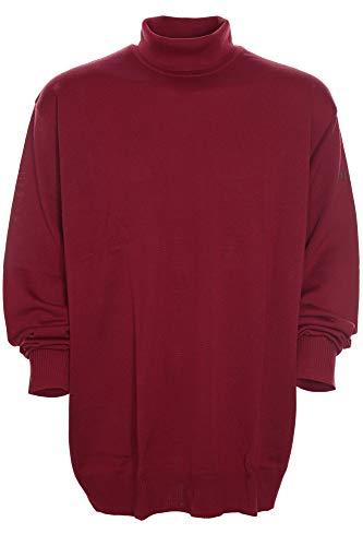 Maerz Rollkragen Pullover Pulli Rolli Wolle Merino Superwash Herren Plusgröße, Farbe:rot, Herrengrößen:68