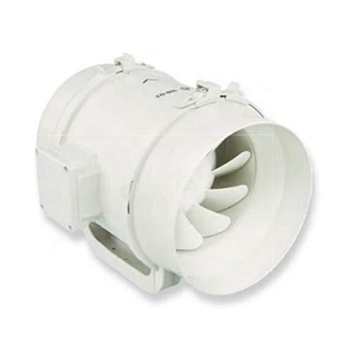 Ventilador de tubo TD-800/200, extremadamente silencioso, de plástico, 65 x 40 x 32 centímetros, color blanco (Referencia: 5211358900)
