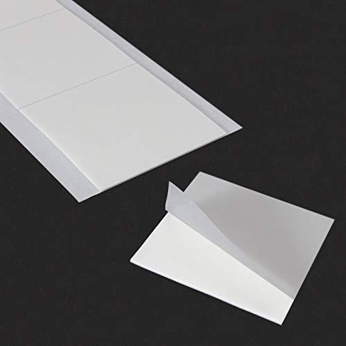 Doppelseitige Klebepads | Extra stark klebend | Auf glatten & strukturierten Oberflächen | Für Schilder, Deko etc. | Anwendung im Innenbereich | 50 x 50 x 1 mm / 12 Stück